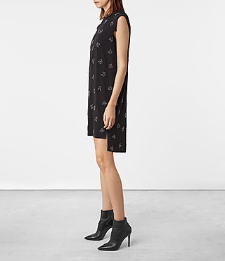 Damen Tonya Anouk Embellished Dress (Black) - product_image_alt_text_3