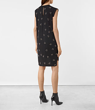 Damen Tonya Anouk Embellished Dress (Black) - product_image_alt_text_5
