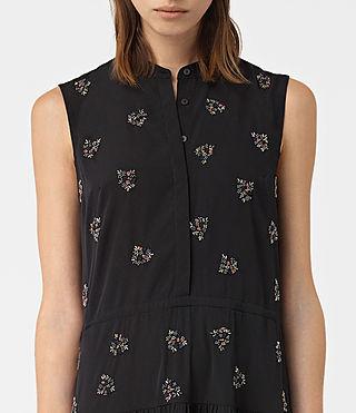 Womens Anouk Embellished Lin Dress (Black) - product_image_alt_text_2