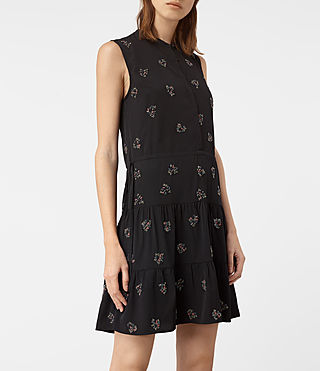 Damen Anouk Embellished Lin Dress (Black) - product_image_alt_text_4