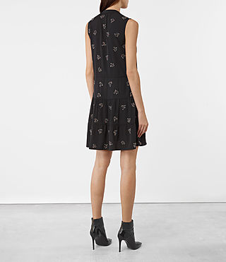 Damen Anouk Embellished Lin Dress (Black) - product_image_alt_text_5