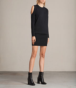 Womens Reya Dress (Cinder Black Marl) - Image 1