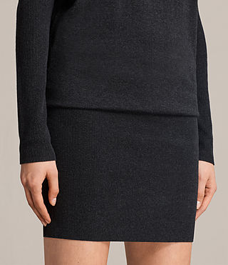 Womens Reya Dress (Cinder Black Marl) - Image 3