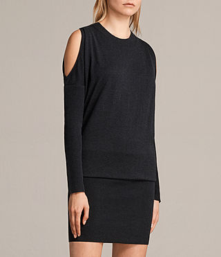 Womens Reya Dress (Cinder Black Marl) - Image 4