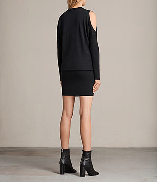 Womens Reya Dress (Cinder Black Marl) - product_image_alt_text_8