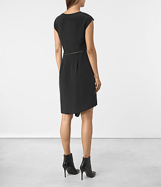 Femmes Kado Silk Dress (Black) - product_image_alt_text_4