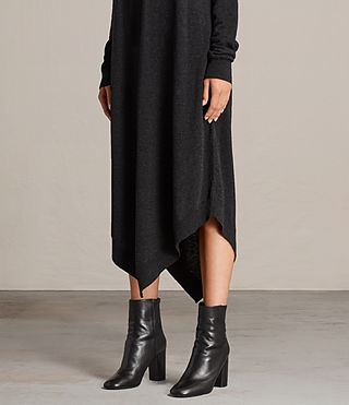 Womens Avery Knitted Dress (Cinder Black Marl) - Image 2