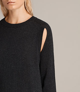 Women's Avery Knitted Dress (Cinder Black Marl) - Image 3