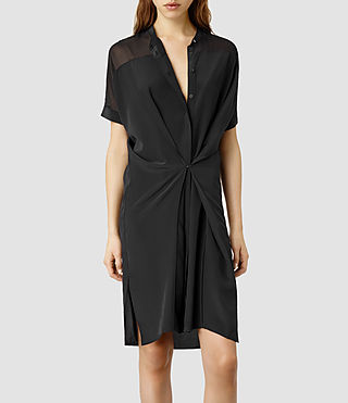 Womens Fleet Dress (Black/Black)