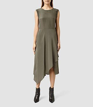 Womens Cecilia Dress (MOSS GREEN)