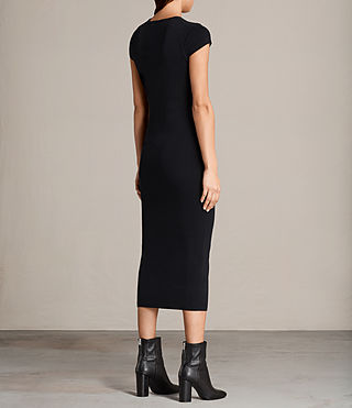 Women's Anya Long Dress (Ink Blue) - product_image_alt_text_6