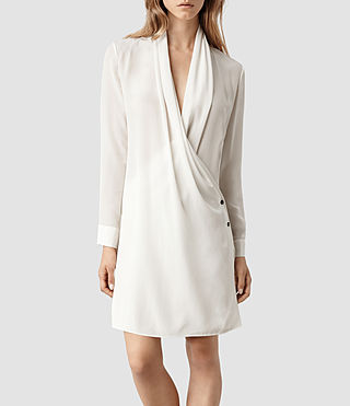 Womens Serra Shirt Dress (Chalk)