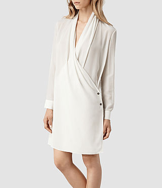 Womens Serra Shirt Dress (Chalk) - product_image_alt_text_2
