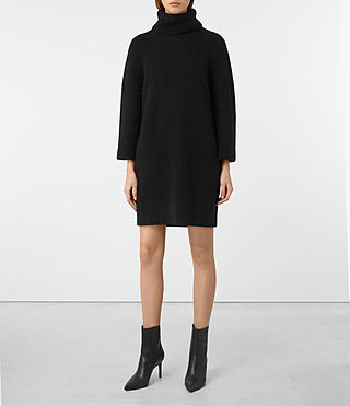 Women's Jago Dress (Cinder Black Marl)