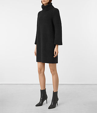 Donne Jago Dress (Cinder Black Marl) - product_image_alt_text_4