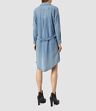 Womens Mia Denim Dress (LIGHT INDIGO BLUE) - product_image_alt_text_3