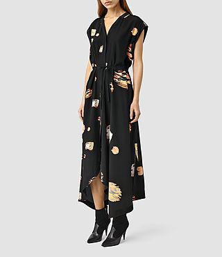 Womens Tate Brocade Dress (Black)