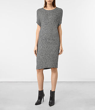 Donne Velo Dress (BLACK/PORCELAIN)