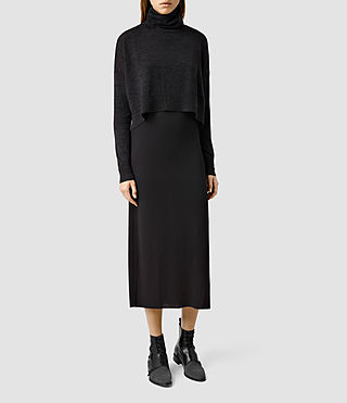 Womens Chase Dress (CINDER MARL/BLACK)