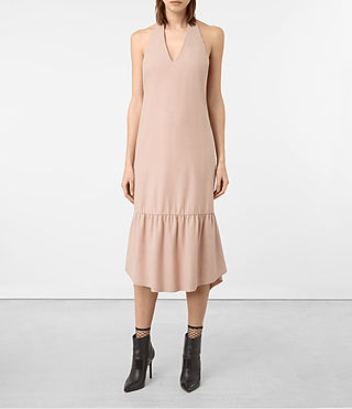 Womens Emelie Wool Dress (Dusty Pink)