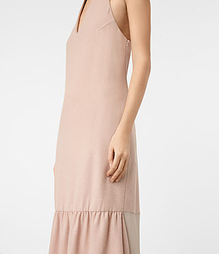 Womens Emelie Wool Dress (Dusty Pink) - product_image_alt_text_2