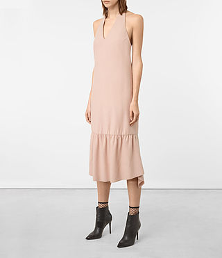 Womens Emelie Wool Dress (Dusty Pink) - product_image_alt_text_3