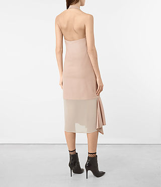 Womens Emelie Wool Dress (Dusty Pink) - product_image_alt_text_4