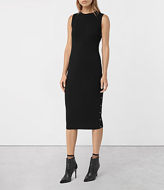 Womens Rossa Merino Dress (Black)