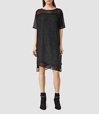 Womens Malo Dress (CIND BLK MARL/BLCK)