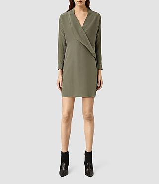 Women's Walton Shirt Dress (MOSS GREEN)