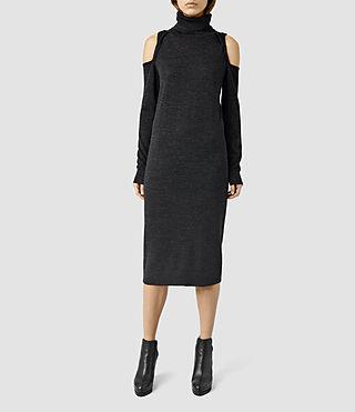 Mujer Neri Funnel Dress (Cinder Black Marl) - product_image_alt_text_1
