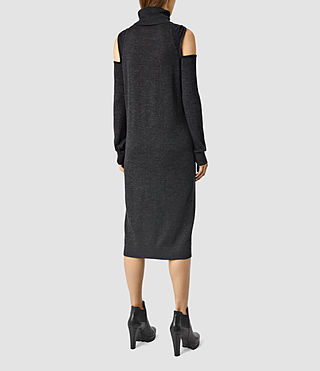 Mujer Neri Funnel Dress (Cinder Black Marl) - product_image_alt_text_3