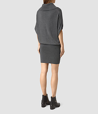 Mujer Elis Cowl Dress (Charcoal Grey) - product_image_alt_text_4