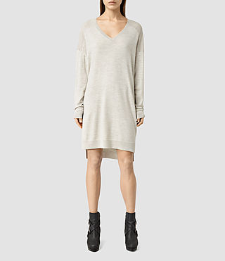 Womens Helle Knit Dress (MIST GREY)