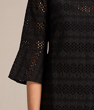 Women's Dakota Ruffle Dress (Black) - product_image_alt_text_2