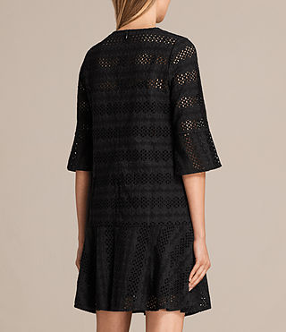 Women's Dakota Ruffle Dress (Black) - product_image_alt_text_7