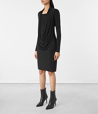 Womens Invi Dress (Black) - product_image_alt_text_2