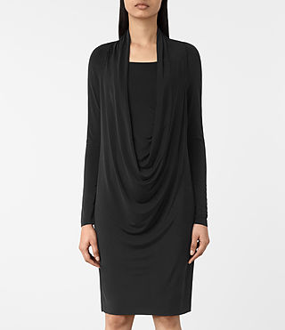 Womens Invi Dress (Black) - product_image_alt_text_3