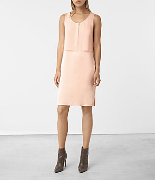 Women's Zaha Dress (EGGSHELL PINK) -
