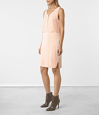 Mujer Zaha Dress (EGGSHELL PINK) - product_image_alt_text_3