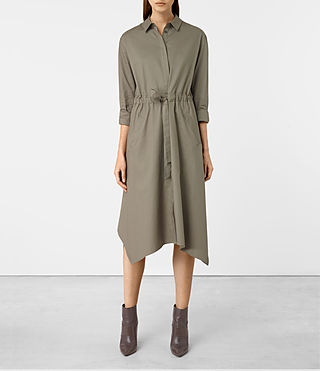 Womens Riva Dress (Khaki Green)