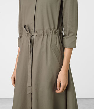 Damen Riva Dress (Khaki Green) - product_image_alt_text_2