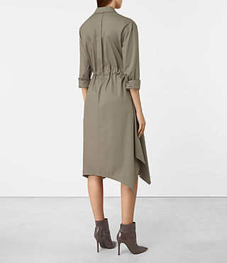 Mujer Riva Dress (Khaki Green) - product_image_alt_text_3