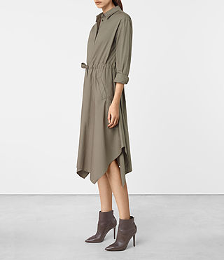 Mujer Riva Dress (Khaki Green) - product_image_alt_text_4