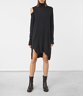 Womens Cecily Dress (Cinder Black Marl)