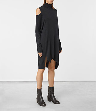 Mujer Cecily Dress (Cinder Black Marl) - product_image_alt_text_2