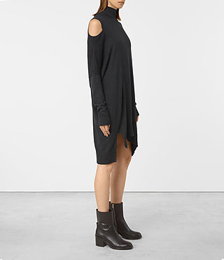 Mujer Cecily Dress (Cinder Black Marl) - product_image_alt_text_3