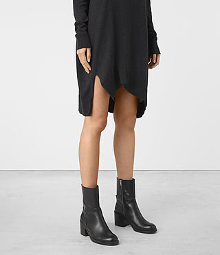 Mujer Cecily Dress (Cinder Black Marl) - product_image_alt_text_4