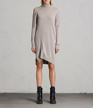 Womens Cecily Dress (Sable Brown Marl) - product_image_alt_text_1
