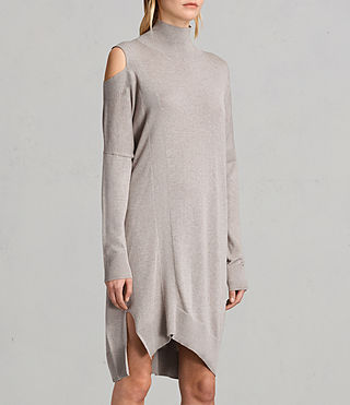 Women's Cecily Dress (SABLEBROWNMARL) - product_image_alt_text_3